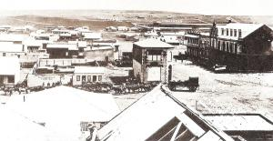 View from Rissik Street in 1888 with proposed Wanderers site in the distance