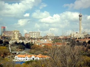 View of Hillbrow from the sundial at The Wilds