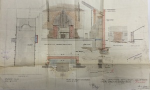 Plans for the organ room addition from 1933