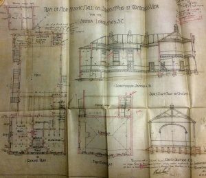 Plans for the Braamfontein Masonic Hall