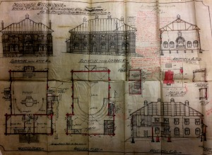 Plans for the proposed Braamfontein Synagogue 19191
