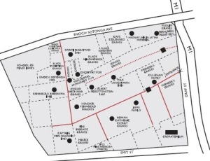 Plan of the cemetary today