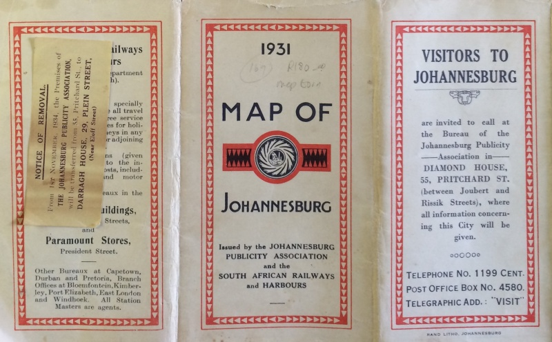 1931 Map front cover