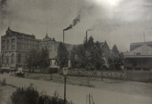 Brewery in 1914 looking west