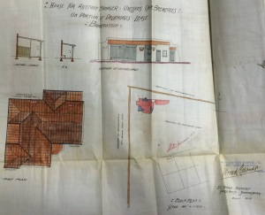 1904 plans for the assistant managers house