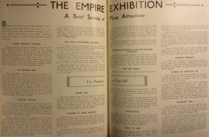 A brief survey of attractions at the Empire Exhibition