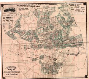 1929 Map of Johannesburg