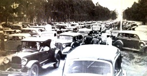 Yale Road parking congestion in 1936