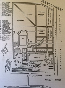 Showground map 1925-1930