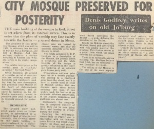 Article on the mosque from 1972