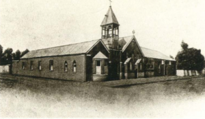 First Catholic church in Fox Street