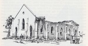 Dutch Reform Church Fordsburg after the dynamite explosion