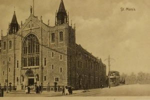 St. Mary's hall post card