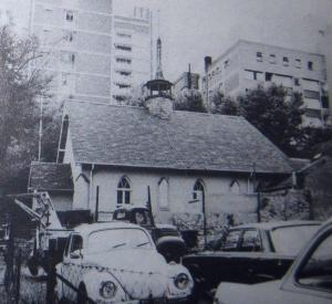 The church in 1976 before being demolished
