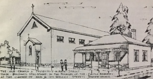 Sketch of the presbytery on Main and von weilligh Streets