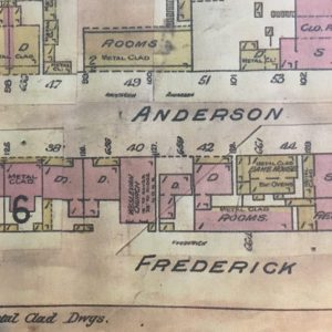 Wesleyan Church Anderson Street from 1910 map