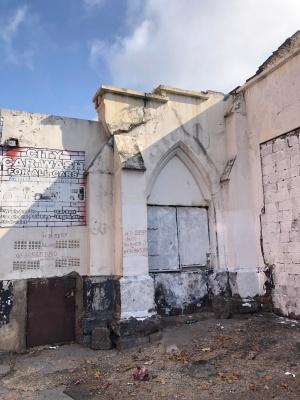 Jeppestown Wesleyan church back window 2020