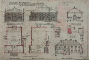 Original plans for the Wanderer's View Synagogue