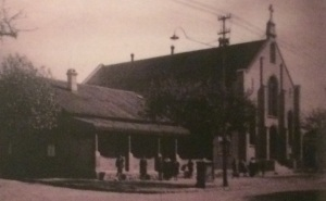 House used as a school next to the church circa 1940s