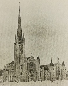 St marys cathedral and hall drawing