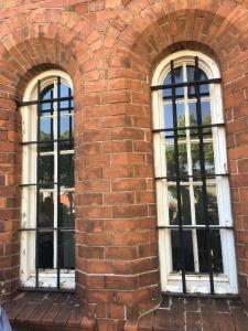 Brick detailing around the windows