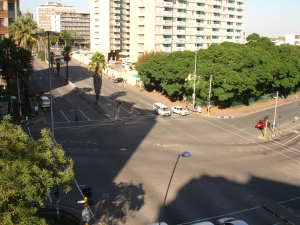 The intersection from 2011 taken from the roof of Brenthurst Place