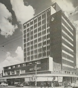 Ingram's corner after construction 1950s