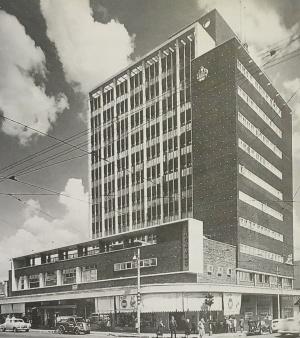 Ingram's corner after construction 1950s