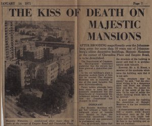 Article on the Mansion's demolishen