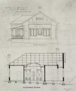 Plans for a house on Goldriech Street