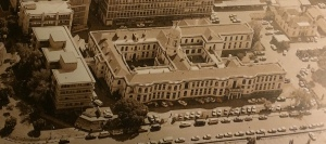 Aerial view of the SAIMR building 1980s