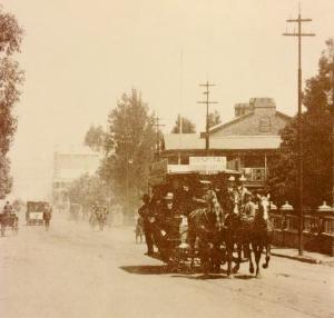 A horse tram in Twist street late 1890s