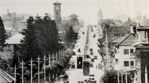 Looking north up Twist Street 1920s. Von Brandis' house would have been in the centre on the right
