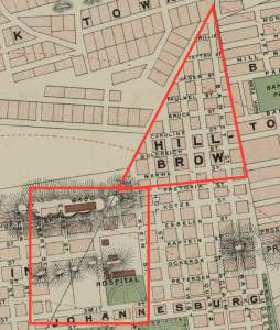 Map of Hillbrow and Hospital Hill 1897