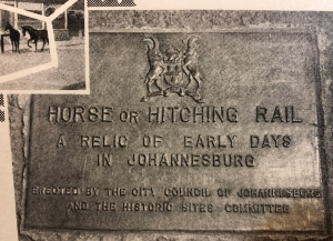 Hitching rail plaque