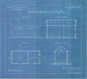 Plans for the original mortuary
