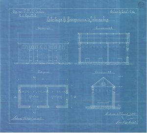Plans for the original mortuary