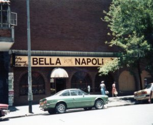 Outside Bella Napoli 1980s
