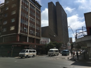Corner of Twist and Kotze looking east toward Highpoint
