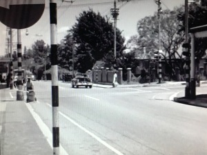 Corner of Jan Smuts and 7th showing the house where M&G now stands