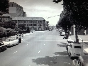 Wolmarans Street at Joubert Park looking toward King George Street