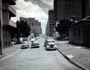 Looking north toward Hillbrow from close to Joubert Park. Street unknown