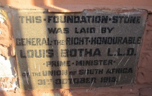 1915 Foundation stone (Mark Straw)