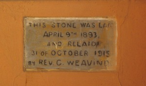 Original foundation stone (Mark Straw)