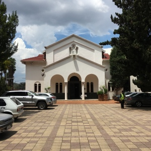 Front of the church