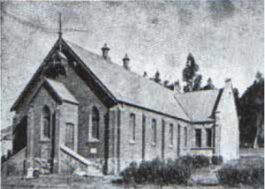 Early photo of the church