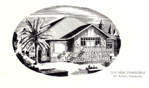 Drawing of the original house from the re-opening