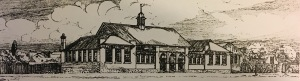 Early sketch of the school