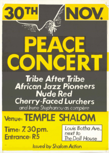 Poster for a music concert