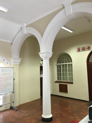 Arches into the main room